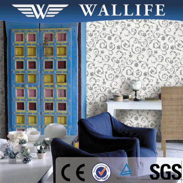 DF4072 Economic Waterproof Hotel Pvc Embossed Wallpaper