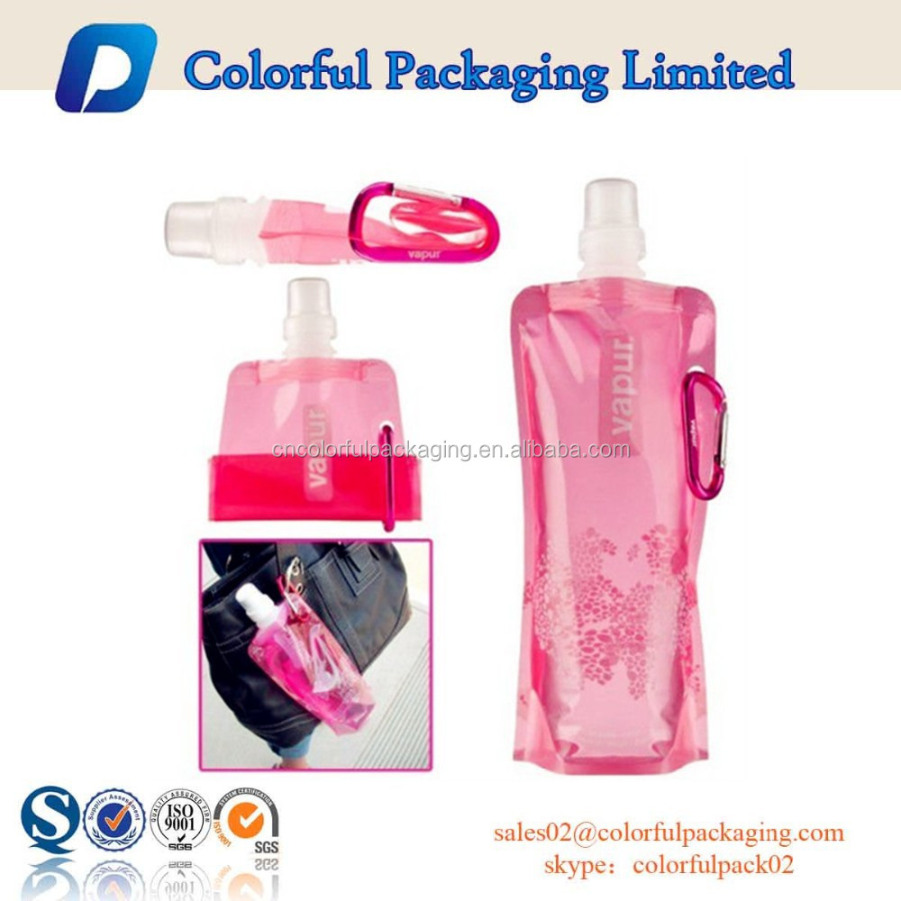 2016 lovely customized stand up spout pouch with top spout for baby food and drink