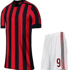 Cheap Chinese quality stripe soccer uniform football kits