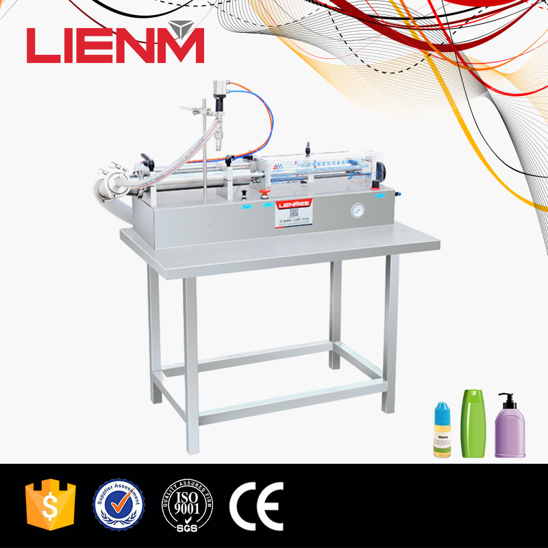 semi-auto Horizontal eyedrop small nozzle filling machine