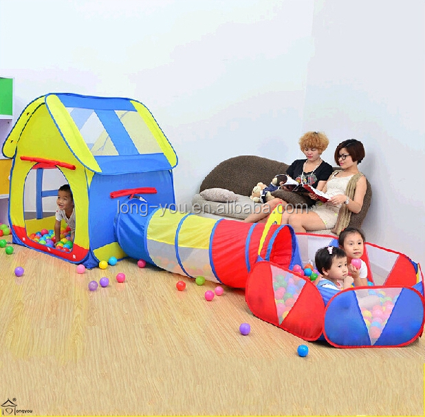 Pop Up Kids Tent and Crawl Tunnel Combo Kids Ball Pit Tent Children Tent with Tunnel