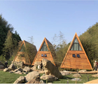 Deepblue Smarthouse New style triangle prefab resort holiday beautiful wooden design tree house