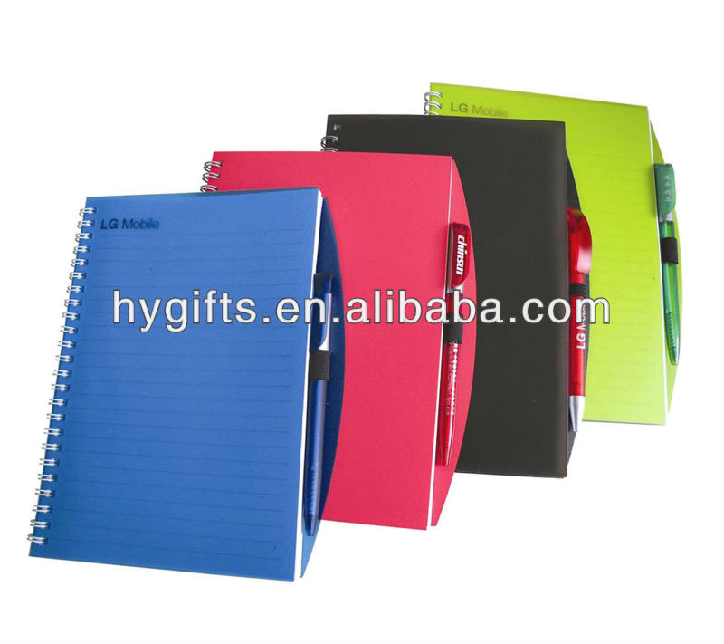 2016 Promotional diary PVC notebook/spiral notebook
