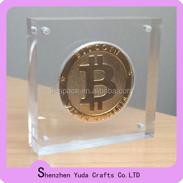 magnetic acrylic souvenir coin display challenge coin display stand