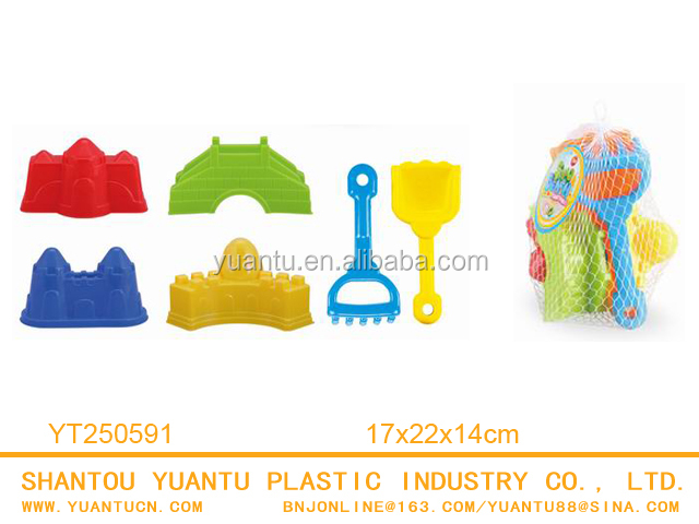 Colorful plastic cheap CE kids commercial toys sand mold 8 pcs kids beach toys tools