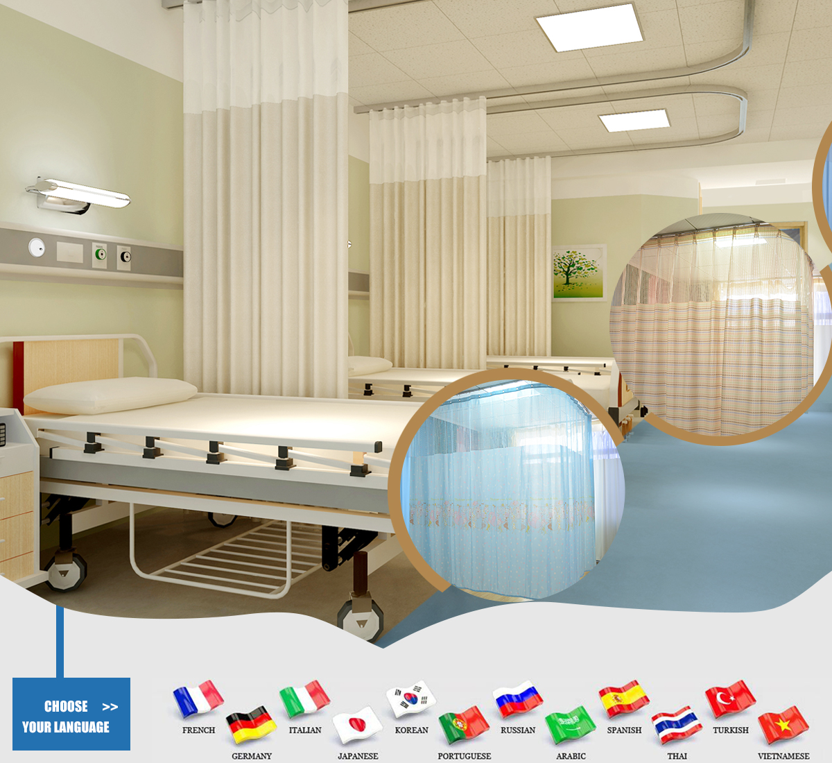 hospital suppliers curtains showroom disposable alibaba wholesale curtain