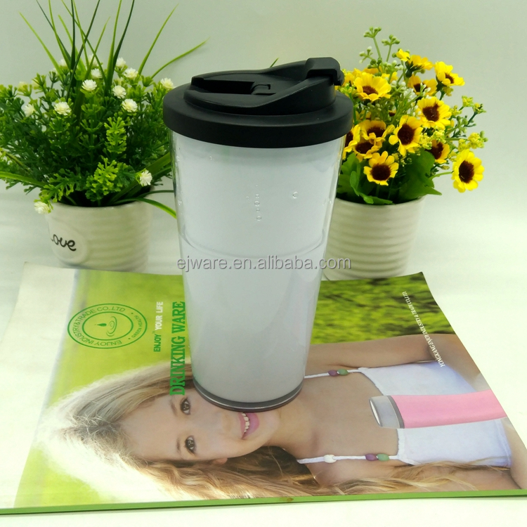 16 oz starbuck mugs double wall plastic tumbler coffee to go cups