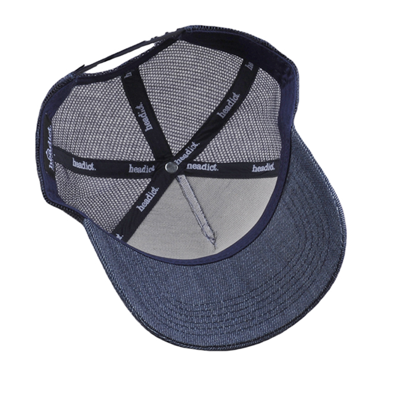 Custom Printing Plain Denim Blank Sports Mesh Trucker Visor Cap Wholesale
