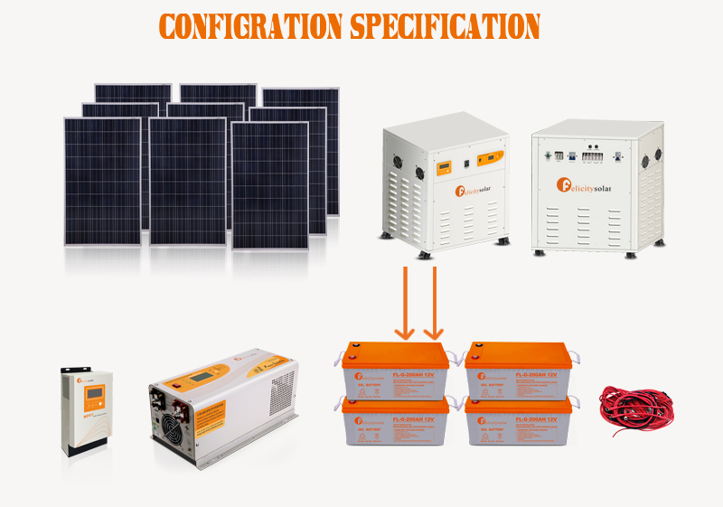 New arrival 2kw solar energy home system all in one off grid hybrid system