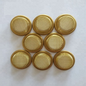 brass wire mesh filter cap dome shape curved screen strainer