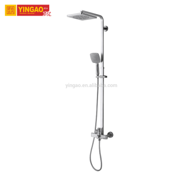 Wall Mounted Bathroom Rainfall Surface Mounted Shower Faucet