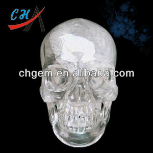 2-6inches Natural Stone Carving Hand Calavera de Cristal