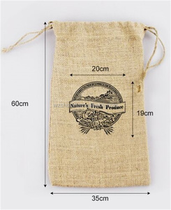 burlap drawstring bags, 15cm x 10 Hessian bag with Custom logo