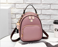 hot sale citi trends black pu leather backpack women back pack backpack
