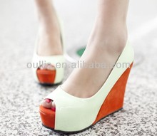 peep toes lady 2014 fashion wedges special designs CP6548