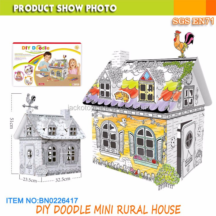 Cardboard Playhouse Coloring House 20 Inches Tall DIY doodle drawing toy  for kids, View Coloring House toy, JACKOTOYS Product Details from Jacko  Toys
