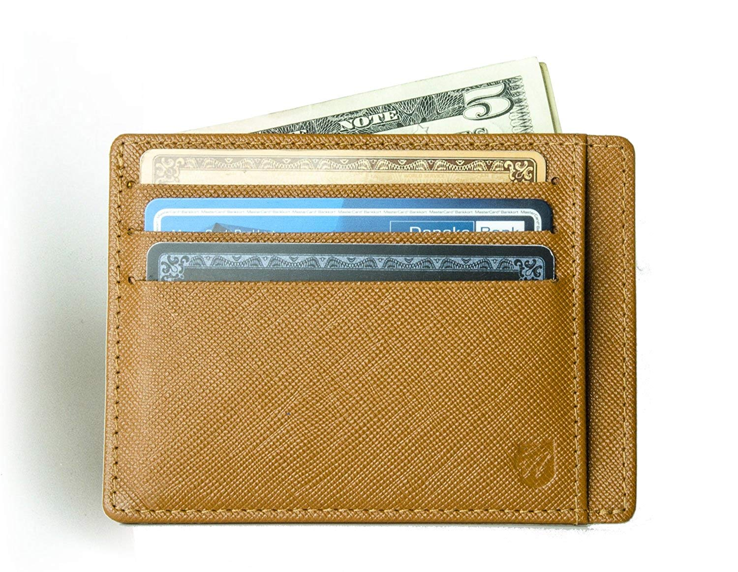 08f2074624e5 Get Quotations · Saffiano leather RFID front pocket wallet from Axess  (men's minimalist wallet)