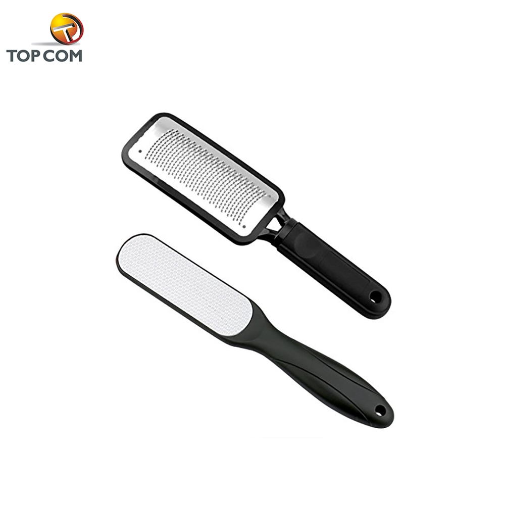 2 PCS Dual Sided Professional Pedicure Tools Stainless Steel Foot File Rasp Callus Remover