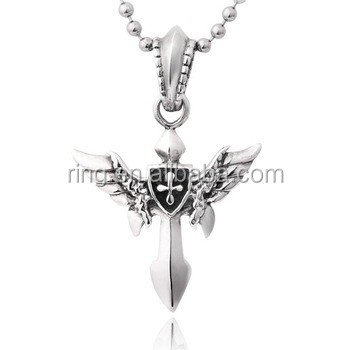 100 pure sterling silver mans winged sword pendant buy winged 100 pure sterling silver mans winged sword pendant mozeypictures Choice Image
