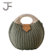 Environmental protection Rattan ladies handbag fashion women bag