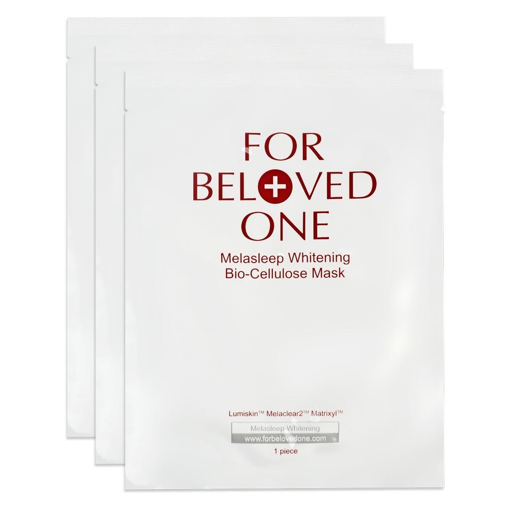 For Beloved One Melasleep Whitening Bio-cellulose Mask 3pcs - worldwide shipping
