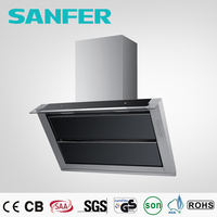 Big capacity SS oil collector commercial range hood mechanical switch