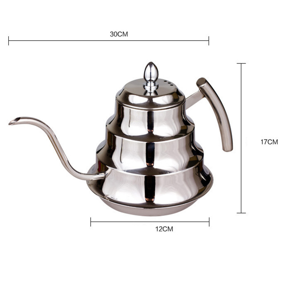 Eworld High Quality Stainless Steel Kitchen Coffee Pot Drip Kettle Tea