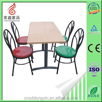 Lunch Room Furniture, Fast Food Table And Chairs, Restaurant Fast Food  Table And Chairs