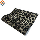 Leopard fur printing design waterproof and elastic PVC artificial leather for bag