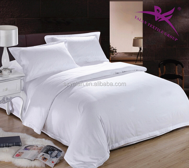 Wholesale White Cotton Hotel Luxury Bedding Set Bed Sheet Set Bed