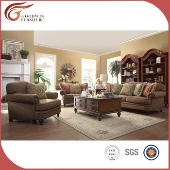 Elegant Solid Wood Hand Carving Sofa Set Simple Living Room Furniture A129