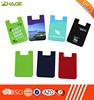 Eco-friendly silicone smart card wallet,card holder for mobile phone