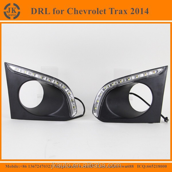 New Arrival Car Special DRL LED Fog Light Super Quality Daytime Running Lights for Chevrolet Trax 2014