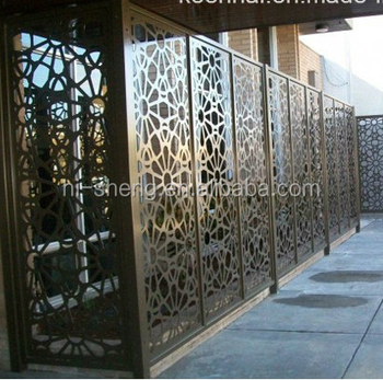 Good Quality Black Laser Cut Fence Low Cost Laser Cutting