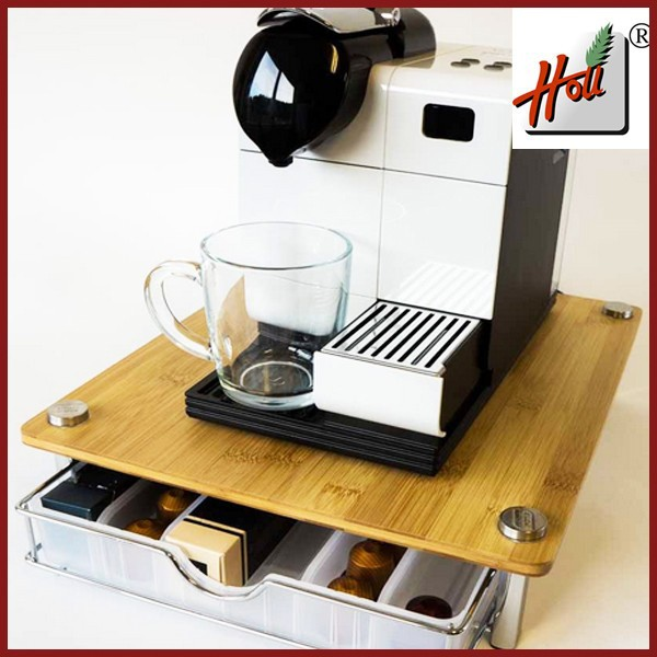 Custom Bamboo Nespresso Coffee Capsule Organiser Hcgb30n