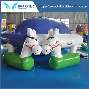 Factory price pvc inflatable water horse toys , inflatable pony horse for pool