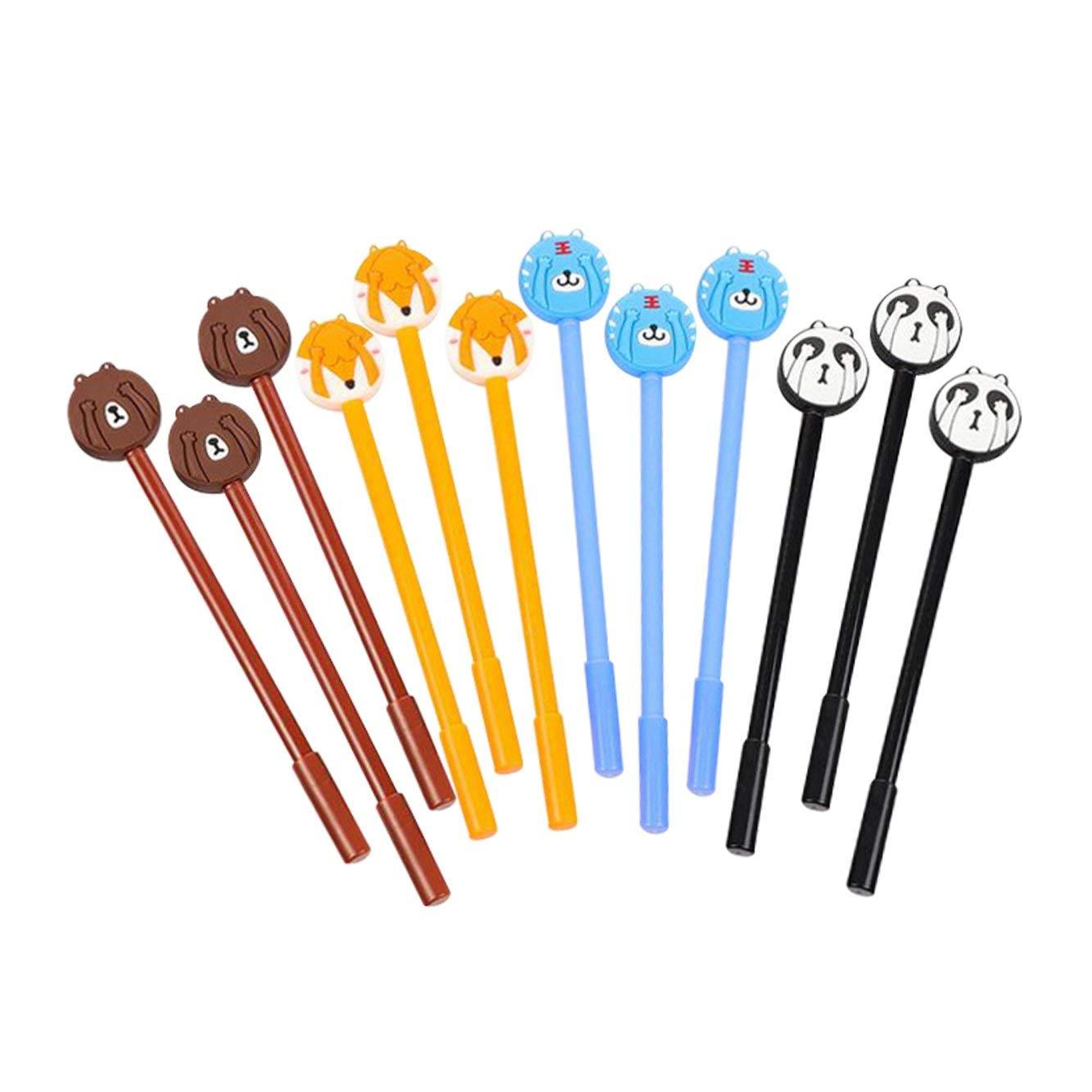 "Baidercor 7"" Cute Shy EXpression Gel Pens Set of 12"