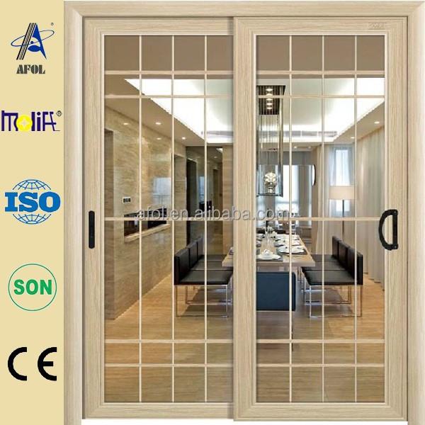 Nuevo de aluminio de triple vidrio franc s patio puertas Puertas corredizas seguras