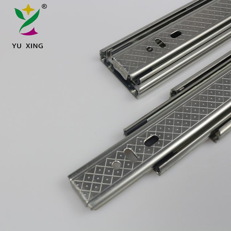 good sale 45mm 3 fold drawer slide, corredica telescopic channel