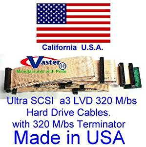 Ultra SCSI Ribbon 320 M/bs SCSI Ribbon Cable with 320 M/bs Terminator (11 Connector 10 Drive)