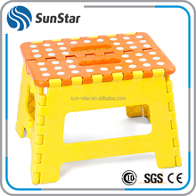 Delivery on time portable folding foot stool,small shower/toilet/garden sitting stool,foldable plastic step stool