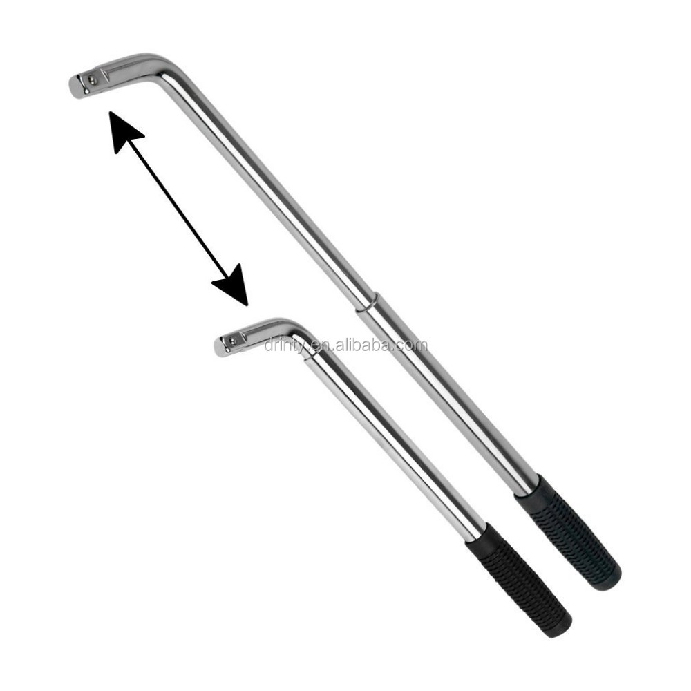 Wheel Wrench Telescopic 17 19 21 23mm Use For Car