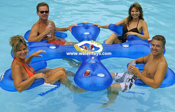 Inflatable Pool Bar Water Float Tube Raft Party Cooler Drinks Sun Seats