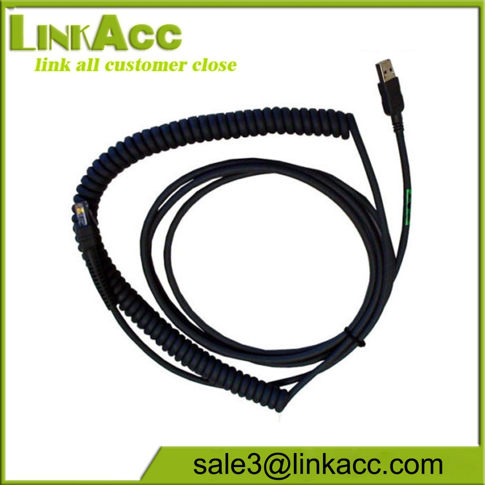 Datalogic CAB-467 USB Cable Coiled 12ft 90A051999 Barcode Scanner NEW  S31