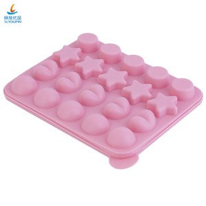 20 Cavity Lollipop Silicone Cake Mold 4 Patterns Ice Cube Mold Baking Tools