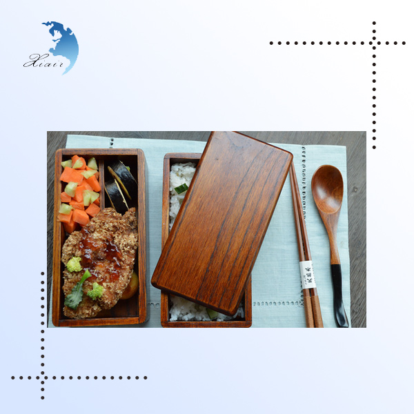 Latest wood 3 compartment bento lunch bento lunch boxes
