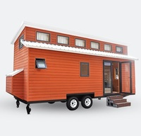 Deepblue Smarthouse NZ/AS/US certified prefabricated prefab light steel frame mobile house tiny house on wheels with trailer