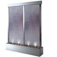 Clear glass waterfall fountain, big size water wall divider ,indoor and outdoor water feature garden waterfall fountain