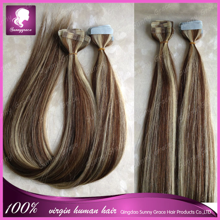 Hot Sale Tape Hair Extensions Grade 6a High Quality Pre Taped Hair