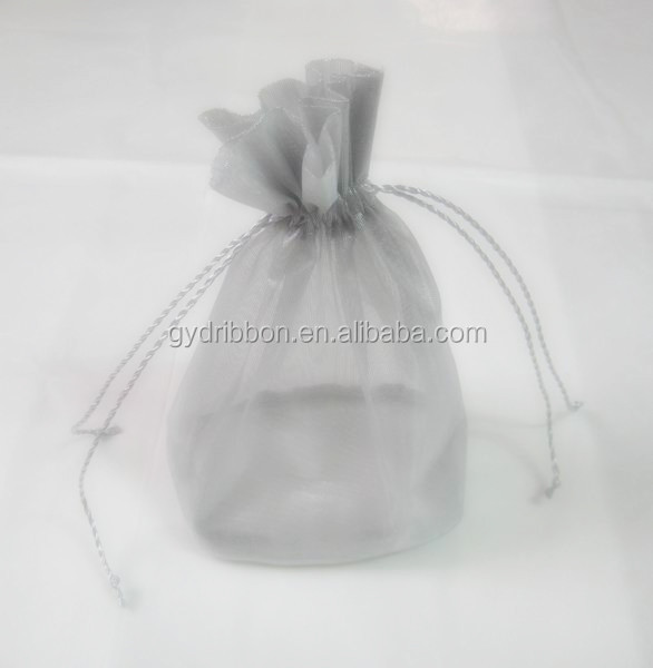 8*12cm grape bag, printed with christmas trees transparent organza gift bag/ribbon gift bags